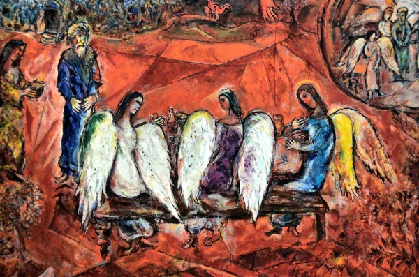 France-Nice-Marc-Chagall-Painting-Abraham-and-Three-Angels